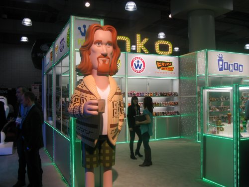 Another shot of the giant Dude. Funko has a ton of Big Lebowski figures coming, as does Bif Bang Pow!