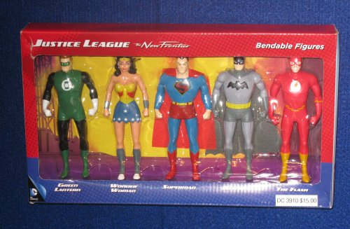 The bendy Justice League set has been upgraded to include The Flash.