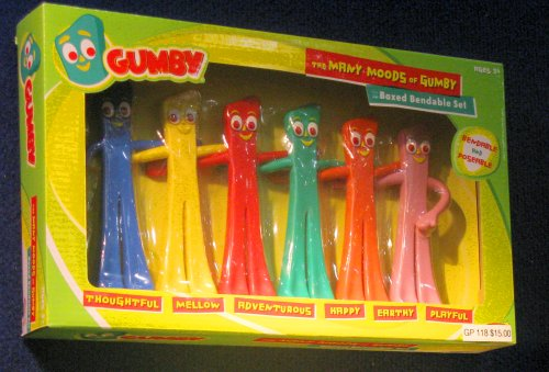 But it could be topped by this cool 60th Anniversary Gumby Rainbow set.