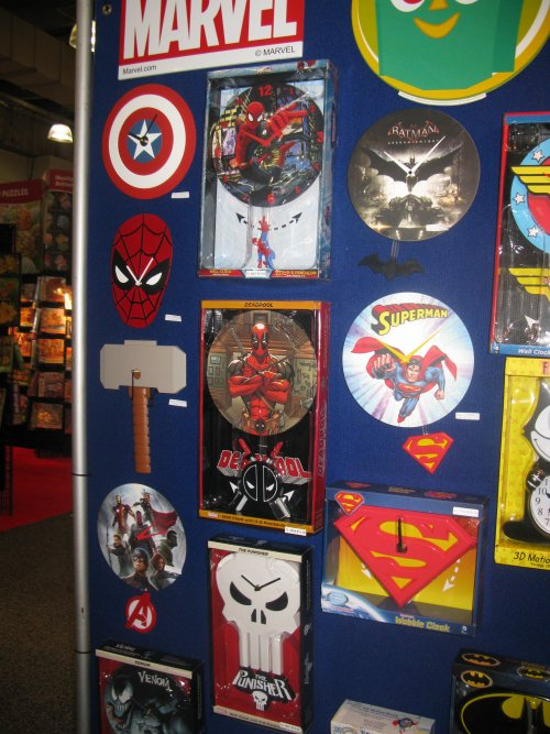 Cool clocks, also from NJ Croce.