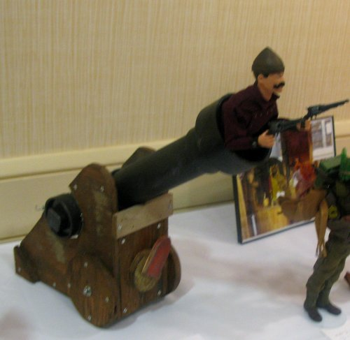 Bryan Tatum built a cannon to help this year's exclusive figure, Col. Caliber, become airborne.