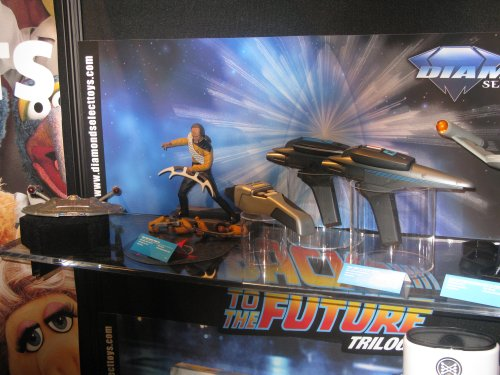 Worf action figure and movie phasers
