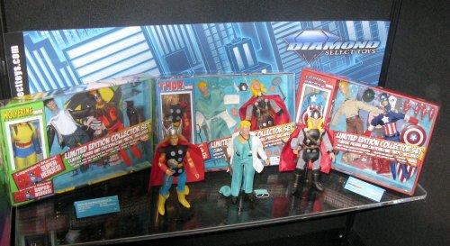 Upcoming retro MEGO-style Marvel figures, designed by DR. Mego himself, Paul Clarke