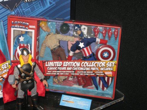 The MEGO-style Captain America set