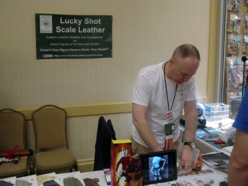 Aaron Luck, the master leather craftsman for the hobby...https://www.facebook.com/LuckyShotLeather