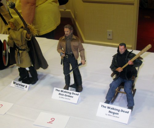 Mike Gardner's Warrior 2, Rick Grimes and Negan, the latter two from The Walking Dead
