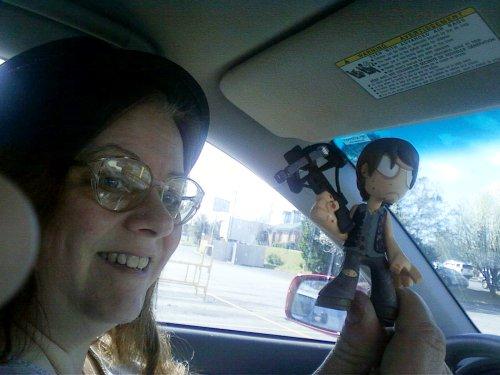 Mrs. PopCulteer scored a rare Bloody Daryl Funko figure