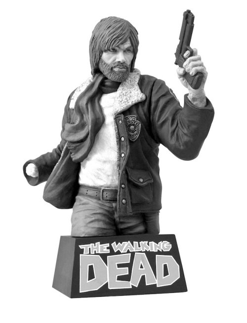 Our photos of this cool Rick bust, from The Walking Dead comic book, came out too blurry, so here's this cool product shot