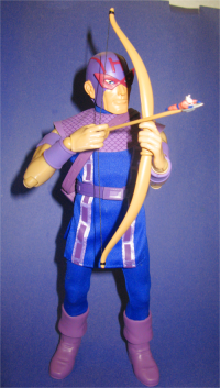 With his original comic book costume, Hawkeye was the build-a-costume bonus in the recent Marvel Captain Action outfits
