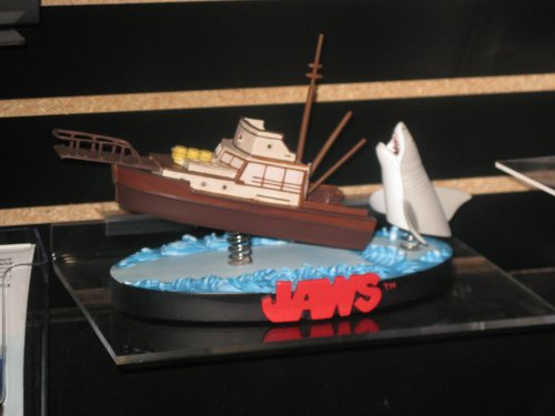 Bobble Bruce menacing Bobble Boat in this Bobble display from JAWS