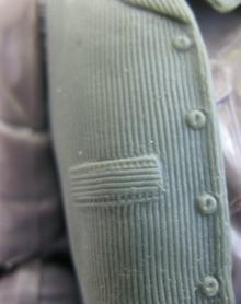 Fine vest detail