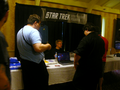 Clay Sayre, representing Star Trek New Voyages, which just launched a new Kickstarter campaign