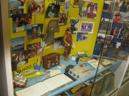 """The original """"Johnny Hits The Road"""" project from 2004, at The Marx Toy Museum"""