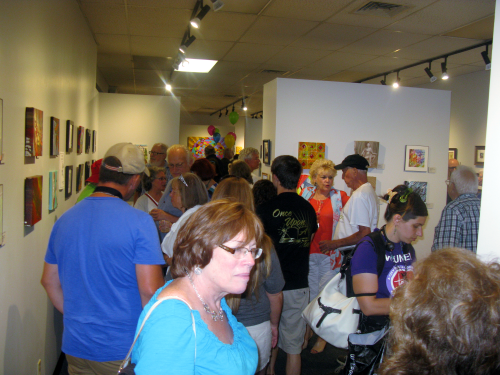 Art Emporium was packed solid