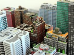 A tiny cityscape