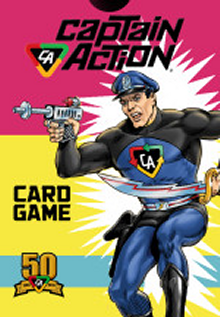 Prototype art for the new card game's package