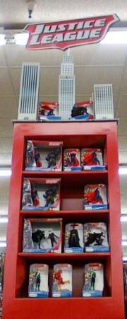 The Schliech Toys DC Comics display is pretty impressive
