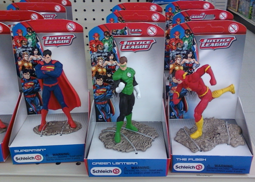 Individually-sold figures of Superman, Green Lantern and The Flash