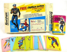 The Captain Action card game AND the Kool-Pops package--a holy grail among collectors
