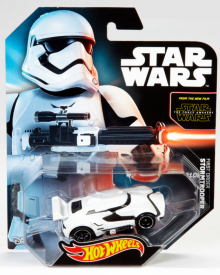 Star Wars Hot Wheels are showing up in stores now, but the ones based on the movie will debut at midnight, September 4