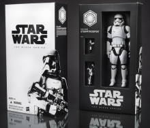One of the few early images of an action figure from Star Wars: A Force Awakens