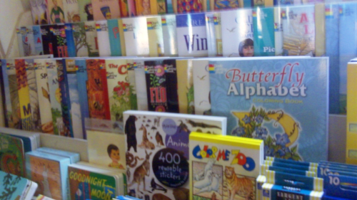 Coloring books for all ages.