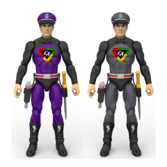 The exclusive color variant Captain Action figures