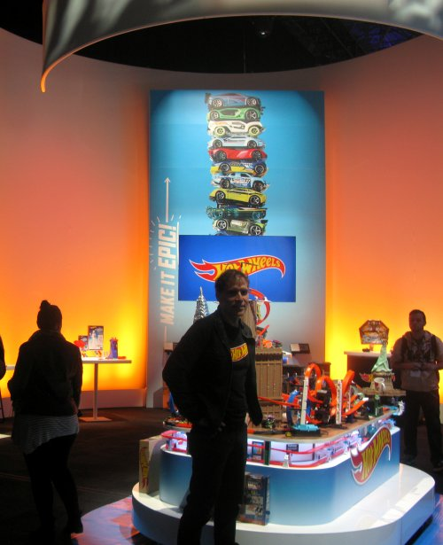 The Hot Wheels section of the Mattel Showroom