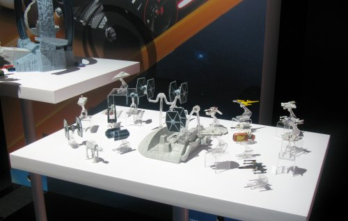 A different angle of Star Wars vehicles