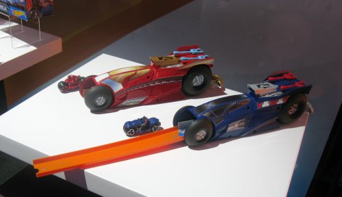 Iron Man and Captain America racing sets