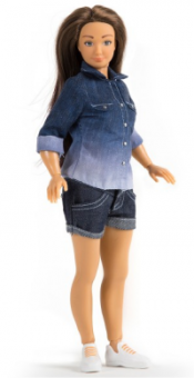 The original Lammily doll, with realistic body proportions