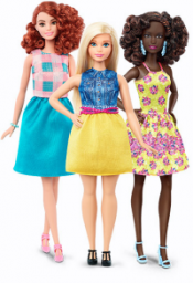 Three of the new Barbies