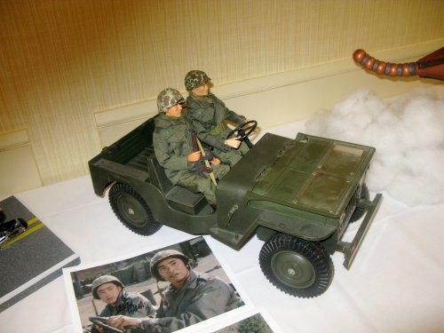 A figure/diorama commemorating Larry Hama's appearance on MASH