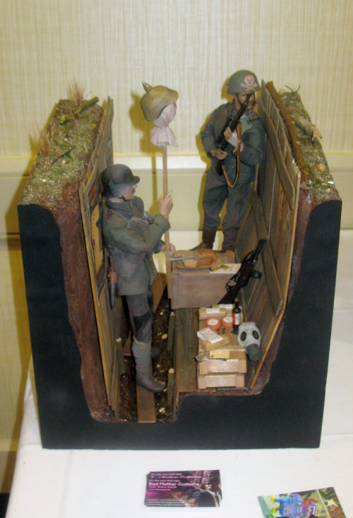 WWI German Trench by Hunter McGarry. First-pplace Adult Diorama winner