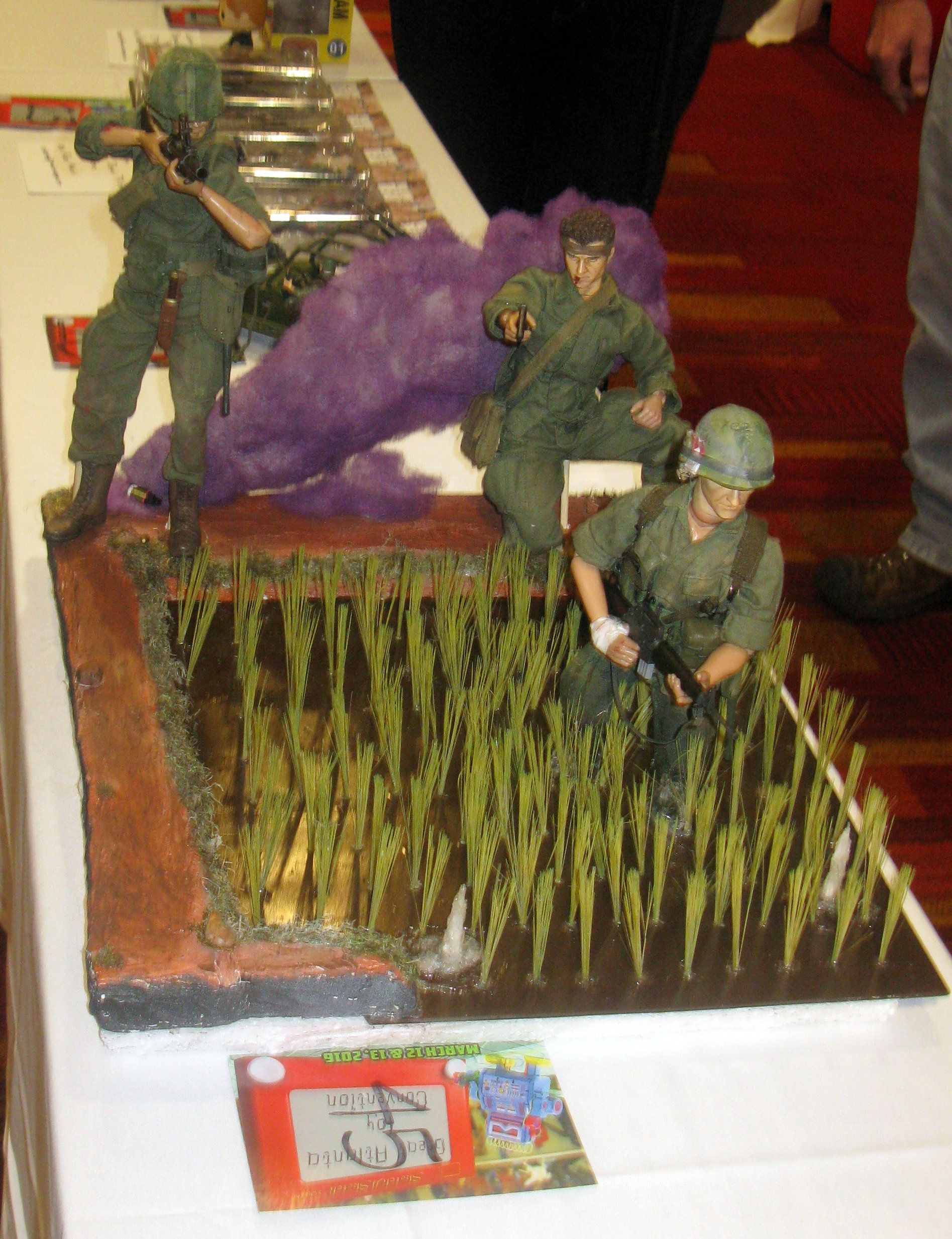 First Place Youth Diorama, Joseph Floyd - Rice Paddy