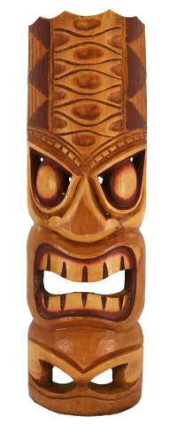 20 yellow hawaiian tiki mask