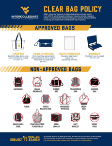 WVU Clear Bag Policy