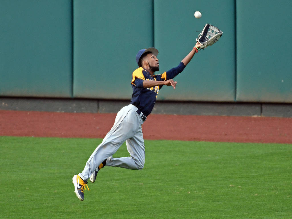 WVU center fielder Brandon White (via Big12sports.com)